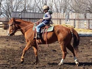 Boyd riding Festus