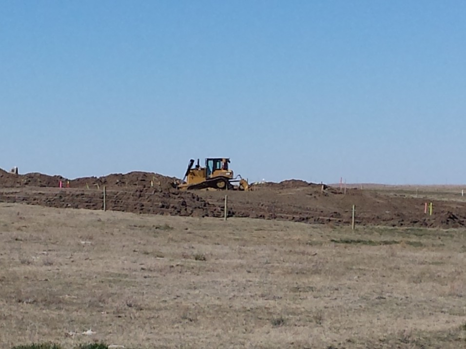 A big reclamation site on the west side of the ranch