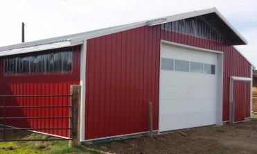 The freshly tinned barn