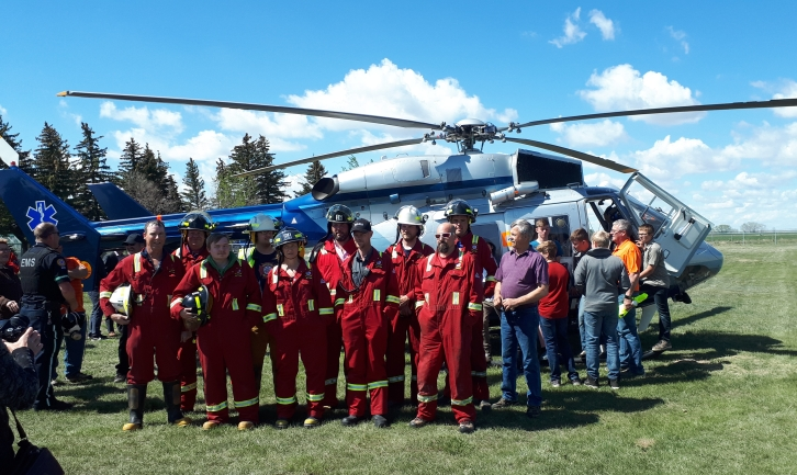 The Halo helicopter and crew came to Tilley