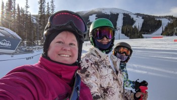 Skiing with friends is wonderful