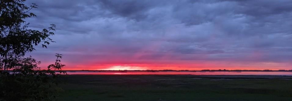 Summer sunrise over the lake