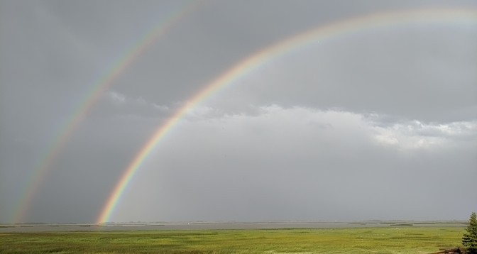 A picture perfect rainbow