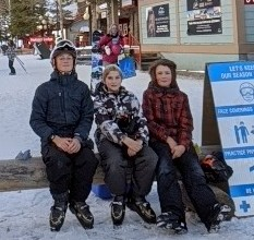 Good friends out skiing